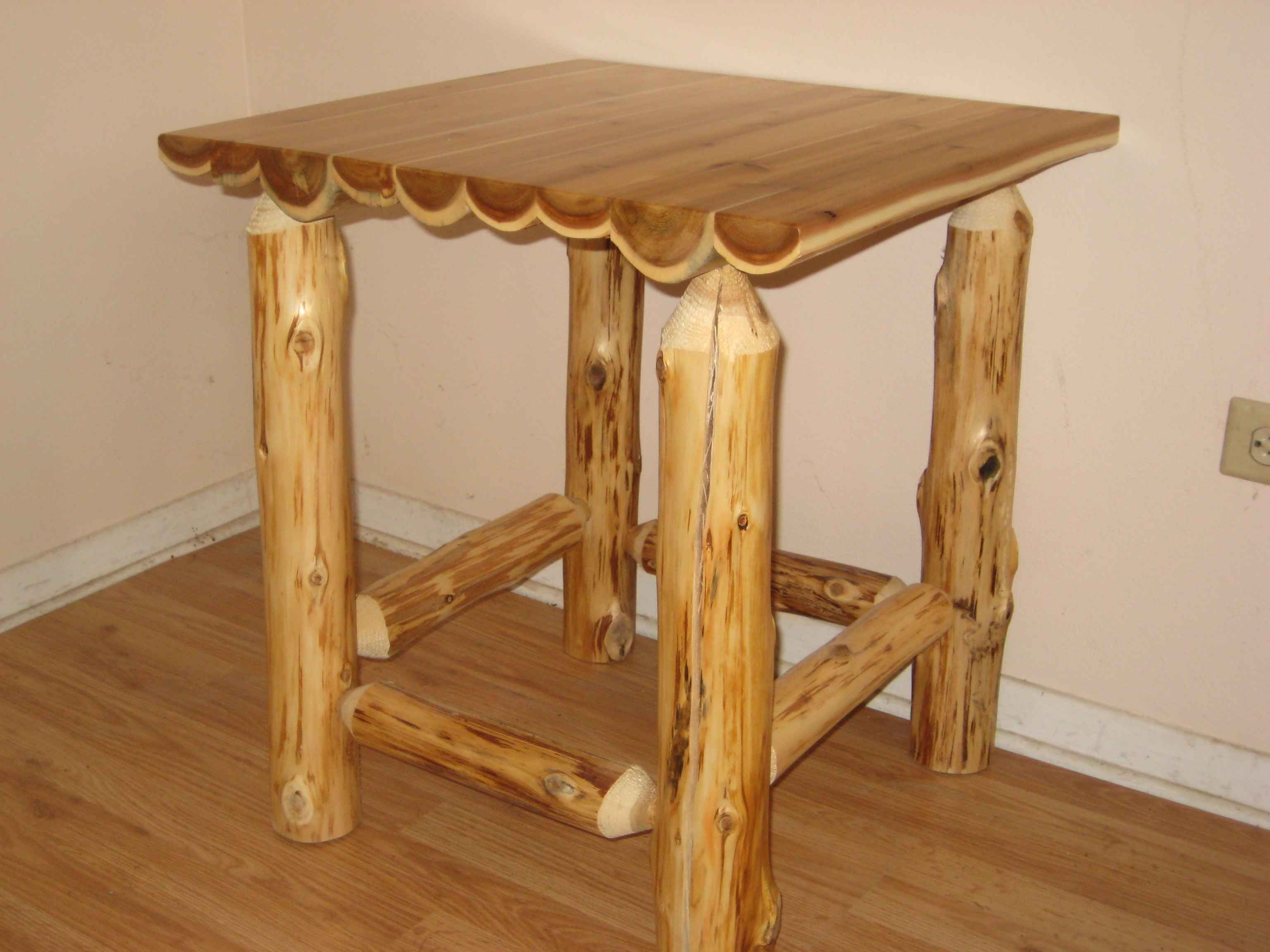 New Log End Table
